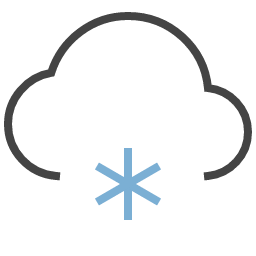 Cloud And Snow Icon Unc Human Resources