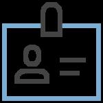 employee id classification icon