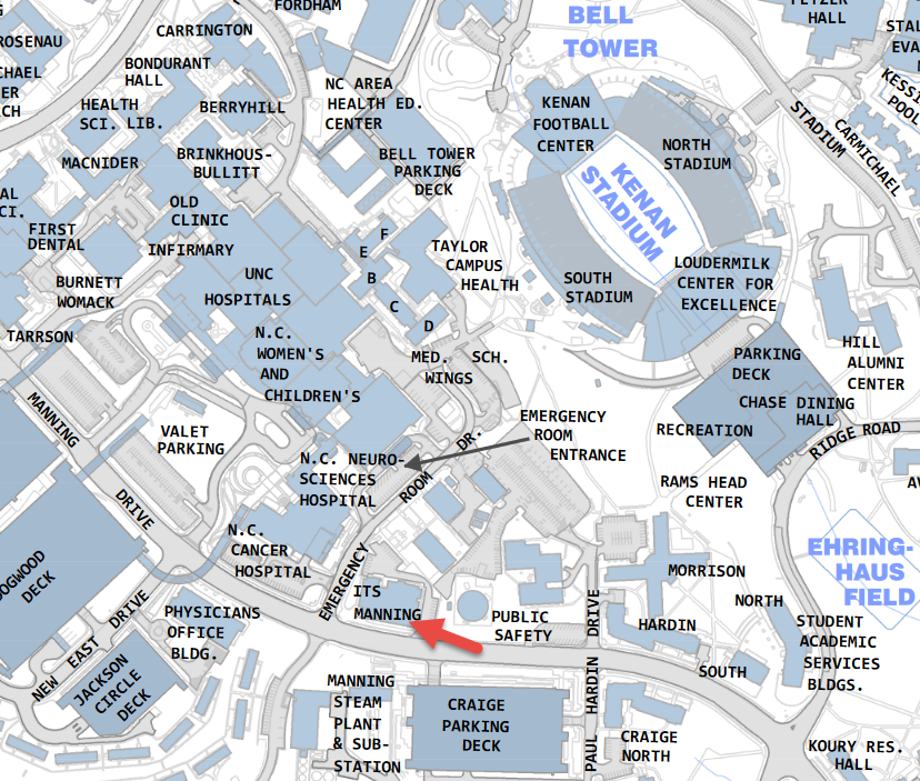 Unc Chapel Hill Map ITS Manning Map   UNC Human Resources