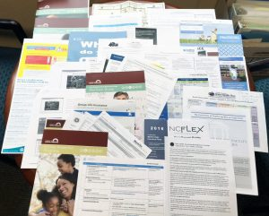 Photo of lots of printed materials