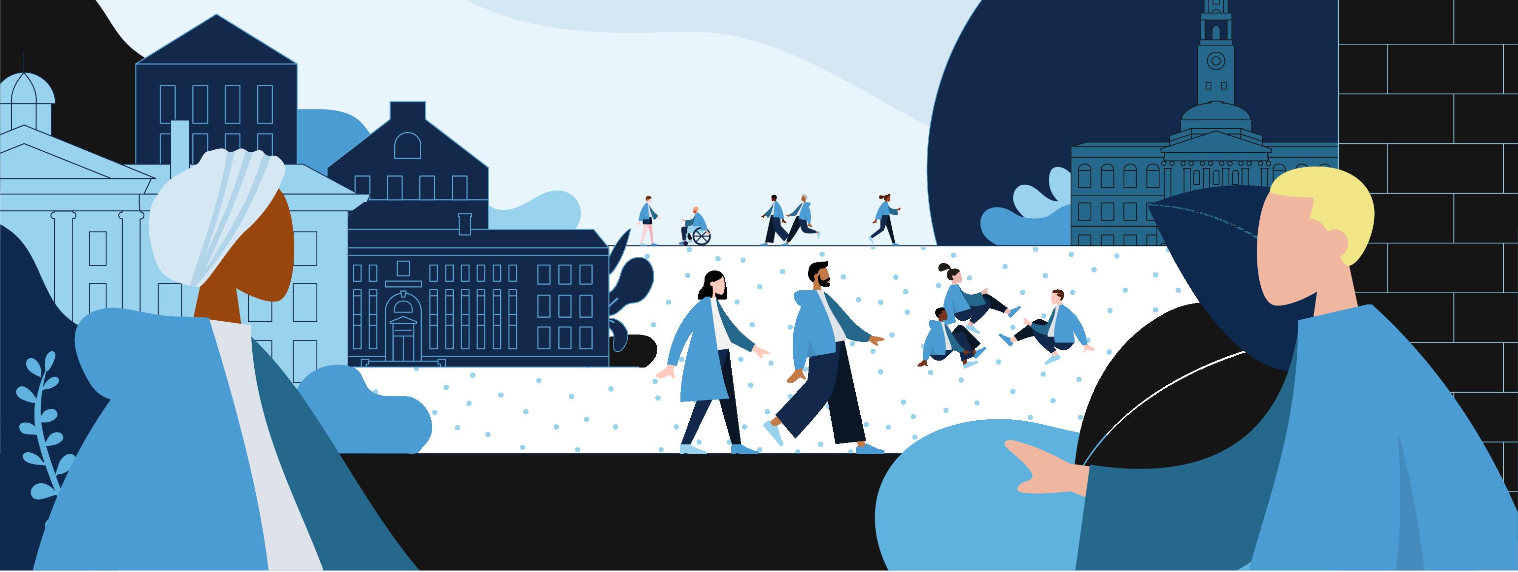 Return to Campus Illustration